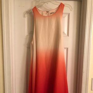 Orange ombré baby doll tank dress- medium